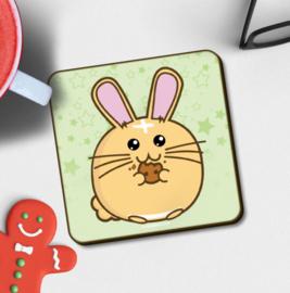 Onderzetter 'Cookie Bunny' - Fuzzballs
