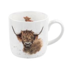 Mok Highland Cow (0,31 l.) - Wrendale Designs