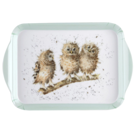 Melamine Dienblaadje Owl (21,2 cm.) - Pimpernel Wrendale
