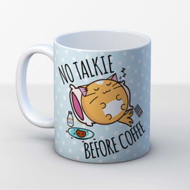 Mok 'No Talkie Before Coffee' - Fuzzballs