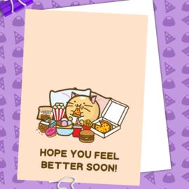 Kaart 'Hope You Feel Better Soon' - Fuzzballs