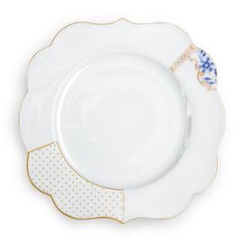 Dinerbord Royal White Blue (28 cm.) - Pip Studio