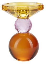 Kristallen Kandelaar Yellow/Rose/Amber
