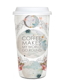 Travel Mug World Go Round - Papaya Art