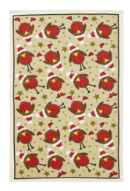 Linnen Theedoek Red Robins - Ulster Weavers