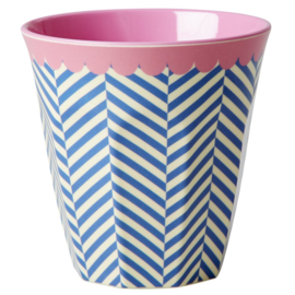 Melamine Beker Sailor Stripe Medium - Rice