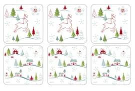 6 Onderzetters - Pimpernel Christmas Wish