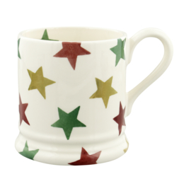 1/2 Pt Mug - Emma Bridgewater Red, Green & Gold Stars