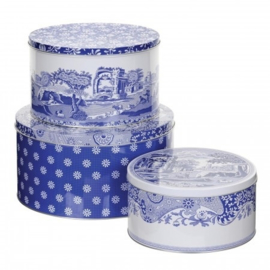 Set 3 Blikken - Pimpernel Blue Italian