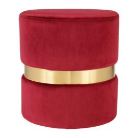 Poef Bayleen Garnet Red (36 cm.) - Sema Design