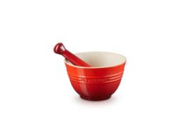 Vijzel met Stamper Kersenrood (300 ml.) - Le Creuset