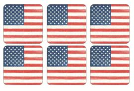 Onderzetters (6) - Pimpernel American Flag