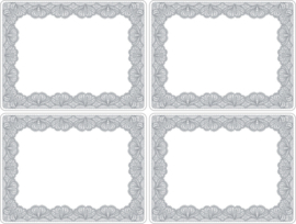 4 Placemats Glamour Lace (40 cm.) - Portmeirion Catherine Lansfield