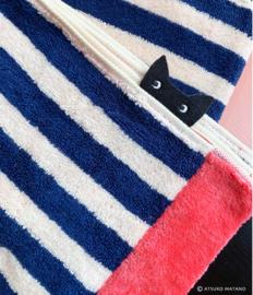 Handdoek Cat Stripe (140 cm.) - Atsuko Matano