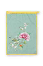 Theedoek Blushing Birds Blue - Pip Studio