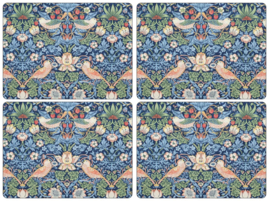 4 Placemats - Pimpernel Morris & Co Strawberry Thief Blue