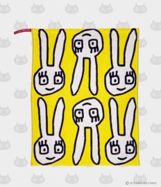 Hand- / Theedoek / Placemat Yuru Usa Yellow (45 cm.) - Atsuko Matano