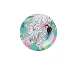 Bord Melamine Tropical Paradise Found (16 cm.) - Ginger