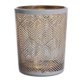 Kaarsenhouder White & Gold (6,8 cm.) - Sema Design
