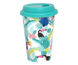 Travel Mug Tropical Paradise Found - Ginger