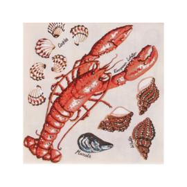 Papieren Servetten KH Fresh Shellfish - Ulster Weavers