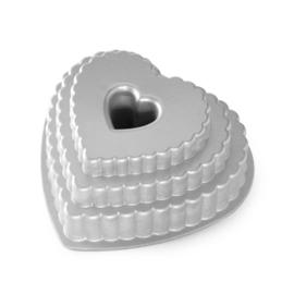 Tiered Heart Bundt Tulbandvorm - Nordic Ware