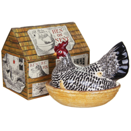 Black Toast Silver Hen Eierschaal - Emma Bridgewater