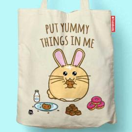 Tas 'Put Yummy Things in Me' - Fuzzballs