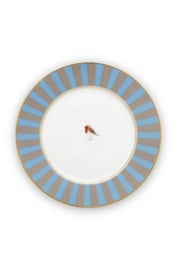 Gebaksbord Blue Khaki Stripes (17 cm.) - Pip Studio Love Birds