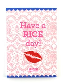 Notitieboekje Have a RICE day! - Rice