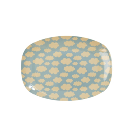 Melamine Bord Cloud (22,7 cm.) - Rice