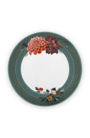 Ontbijtbord Big Flower Green (21,3 cm.) - Pip Studio Winter Wonderland