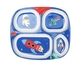 Vakjesbord Melamine Happy in Space (24,2 cm.) - Ginger