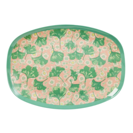 Melamine Bord Leaves & Flower (30 cm.) - Rice