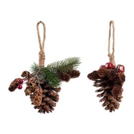 2 Decoratieve Ornamenten (20 cm.) - Comptoir de Famille