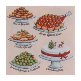 Papieren Servetten KH Christmas Feast - Ulster Weavers