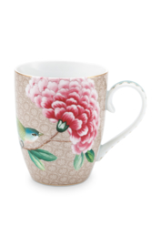 Mok Blushing Birds Khaki (350 ml.) - Pip Studio