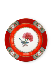 Gebaksbord Blushing Birds Red (17,5 cm.) - Pip Studio