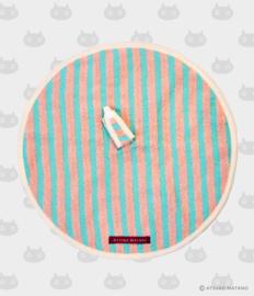 Ronde Handdoek Atarashii Toshi Stripe Blue (32 cm.) - Atsuko Matano