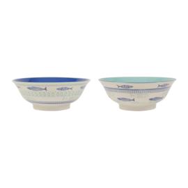 2 Saladeschalen Oceani Blue (21 cm.) - Sema Design