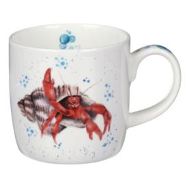 Mok Happy Crab (0,31 l.) - Wrendale Designs