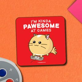 Onderzetter 'I'm Kinda Awesome at Games' - Fuzzballs