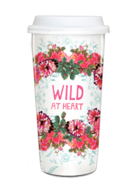 Travel Mug Wild at Heart - Papaya Art