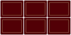 6 Placemats (30,5 cm.) - Pimpernel Classic Burgundy