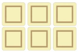 Onderzetters (6) - Pimpernel Classic Cream