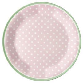 Melamine Bord Spot Pale Pink (20,3 cm.) - GreenGate
