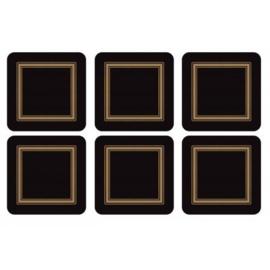 Onderzetters (6) - Pimpernel Classic Black