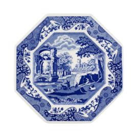 Octagonaal Bord (26 cm.) - Spode Blue Italian