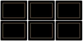 6 Placemats (30,5 cm.) - Pimpernel Classic Black