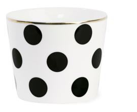 Ceramic Pot Black Dots - Miss Étoile